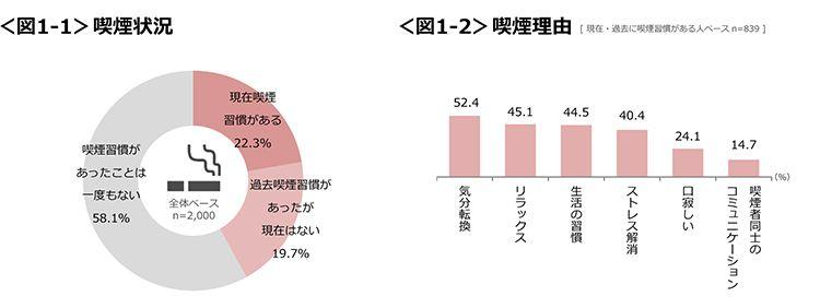 喫煙状況の円グラフ